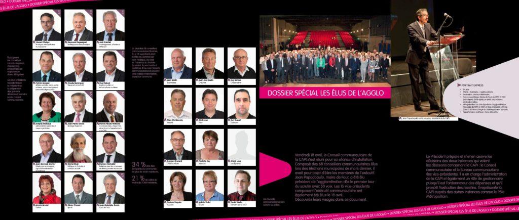 Magazine ICI L'AGGLO N°20 planche trombinoscope