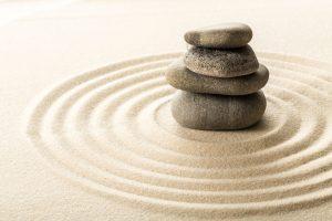 Cailloux de méditation, yoga