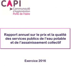 Rapport annuel eau et assainissement 2016 CAPI