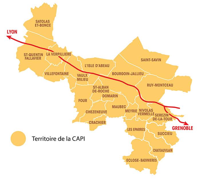 Carte du territoire CODEVNI